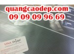 In quảng cáo từ chất liệu decal lưới dán kính