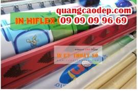 In bạt hiflex giá rẻ, in bạt hiflex dày, trưng bày phông nền, banner ngoài trời lâu ngày hiệu quả