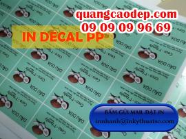 In decal PP - in decal giá rẻ, in decal PP giá rẻ tại HCM