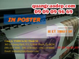 In nhanh poster giá rẻ với máy in phun kỹ thuật số mực nước, mực dầu, gia công ngay tại chỗ