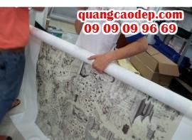 In quảng cáo khổ lớn canvas tại Công ty TNHH In Kỹ Thuật Số - Digital Printing