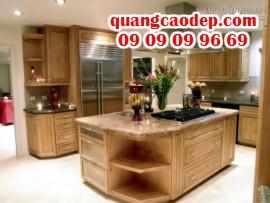 Phòng bếp đẹp với tủ bếp gỗ sồi - Sơn đuổi muỗi Antimos