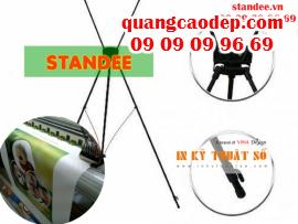 Standee giá rẻ, chân giá chữ x, standee - dụng cụ quảng cáo giá rẻ