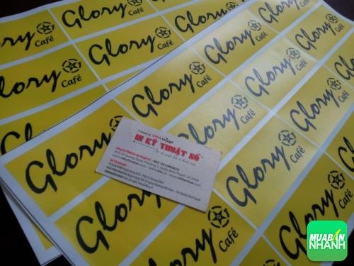 In Decal PP làm tem nhãn dán sản phẩm quảng cáo thương hiệu Glory cafe