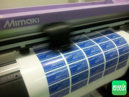 Tiến hành bế Decal PP bằng máy bế nhập khẩu từ Nhật Bản - Mimaki