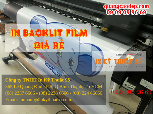 In backlit film giá rẻ tại HCM cùng Công ty TNHH In Kỹ Thuật Số - Digital Printing