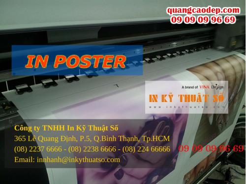 In nhanh poster giá rẻ tùy chọn mực in, gia công tại chỗ với Công ty TNHH In Kỹ Thuật Số - Digital Printing