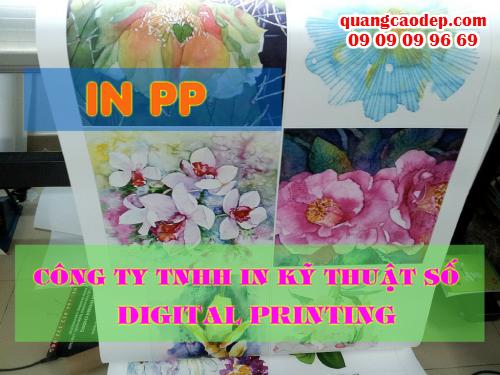 In phông nền cưới trong nhà giá rẻ với PP cán format thực hiện tại Công ty TNHH In Kỹ Thuật Số - Digital Printing